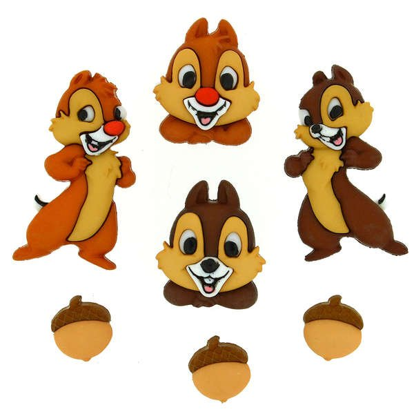 Dress It Up Buttons - Disney - Chip and Dale