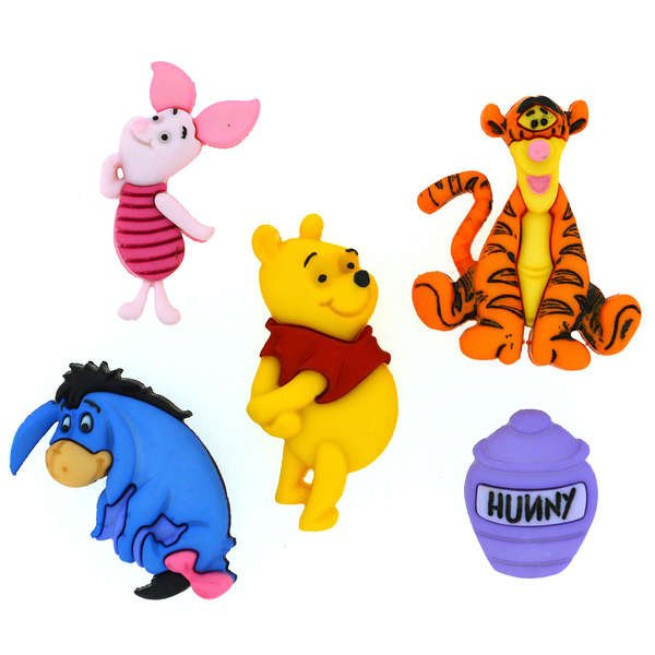 Dress It Up Buttons - Disney - Winnie the Pooh