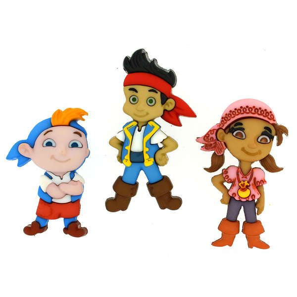 Dress It Up Buttons - Disney - Jake and the Neverland Pirates