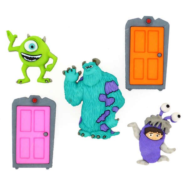 Dress It Up Buttons - Disney - Monsters Inc