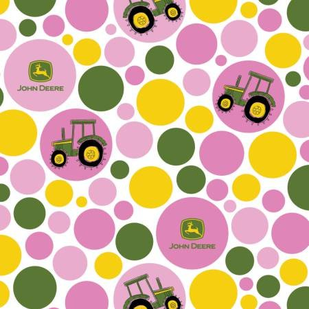 Springs Creative -  John Deere Polka Dot Tractor