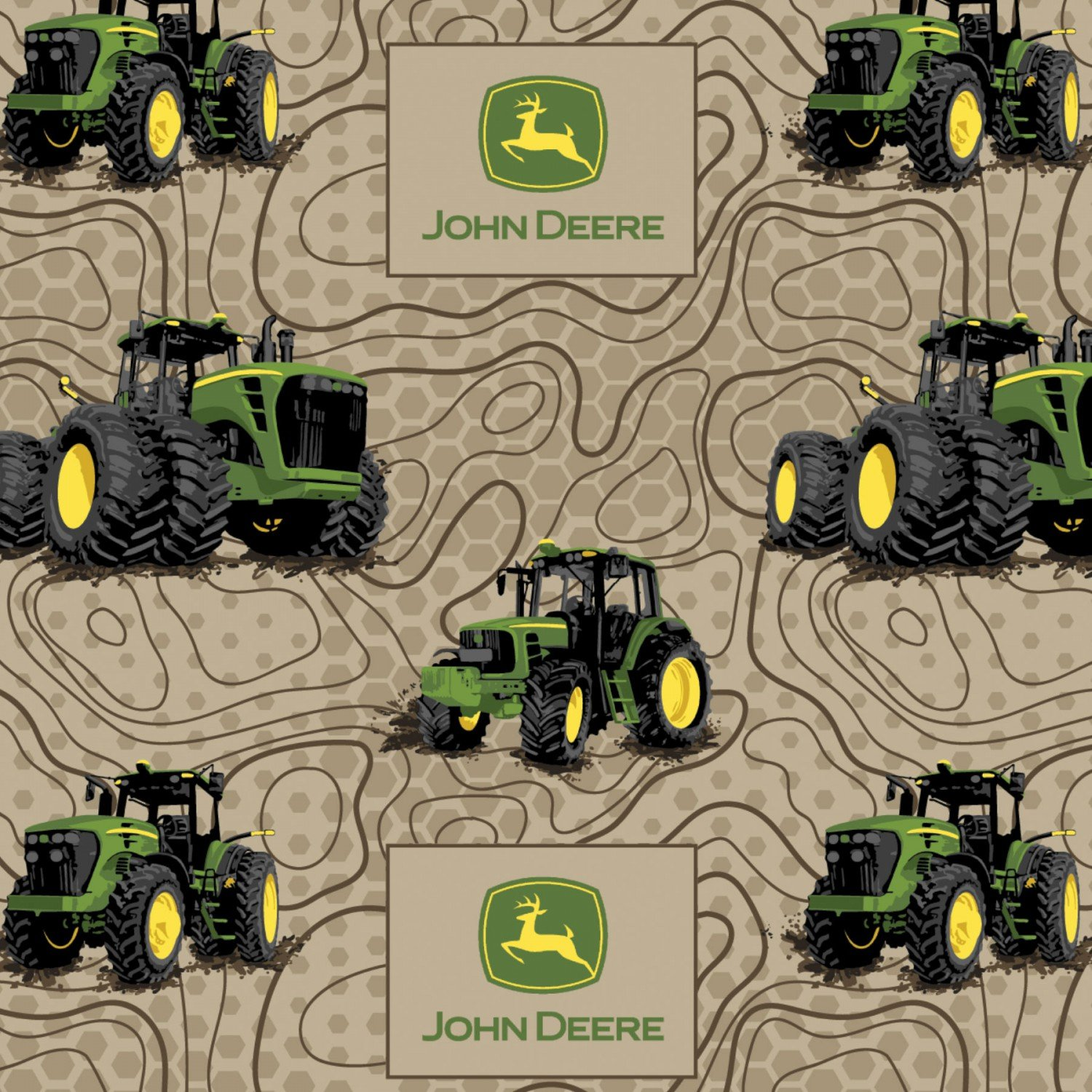 International Textiles -  John Deere Flannel - Topographic