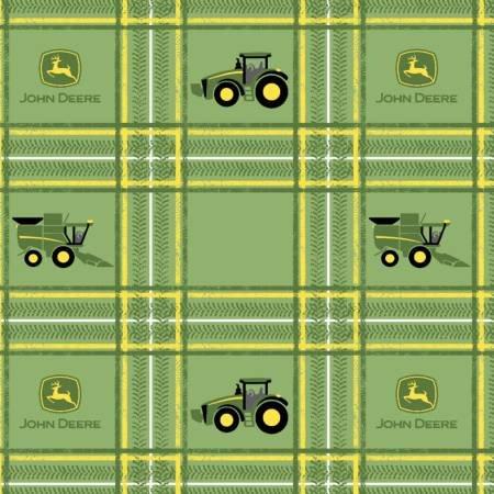 Springs Creative -  John Deere Tractor Plaid