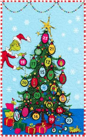 Robert Kaufman - Grinchmas Tree Coutdown - Quilt Kit - 22 x 35