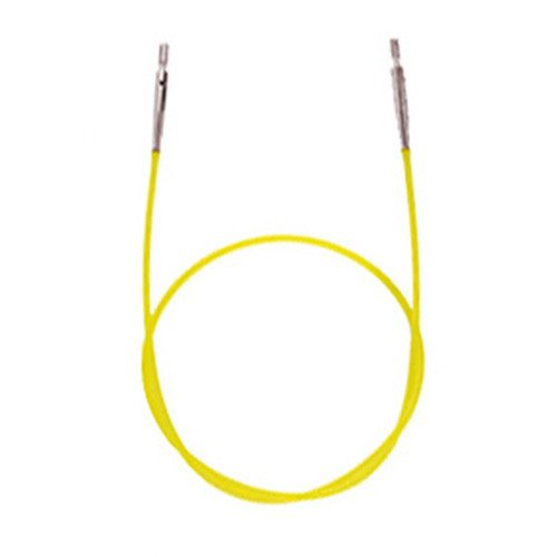 Knitter's Pride - Interchangeable Needle Cord - 8'' (20cm to make 40cm / 16'' IC needle): Yellow
