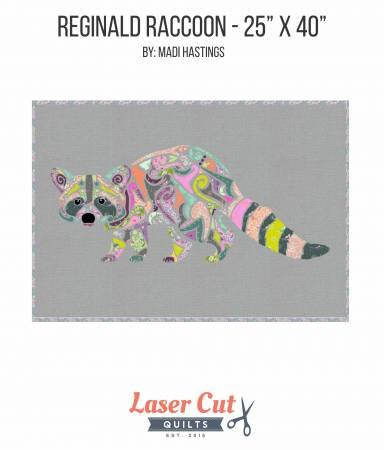 Laser Cut Quilts - Reginald Raccoon - Applique Kit
