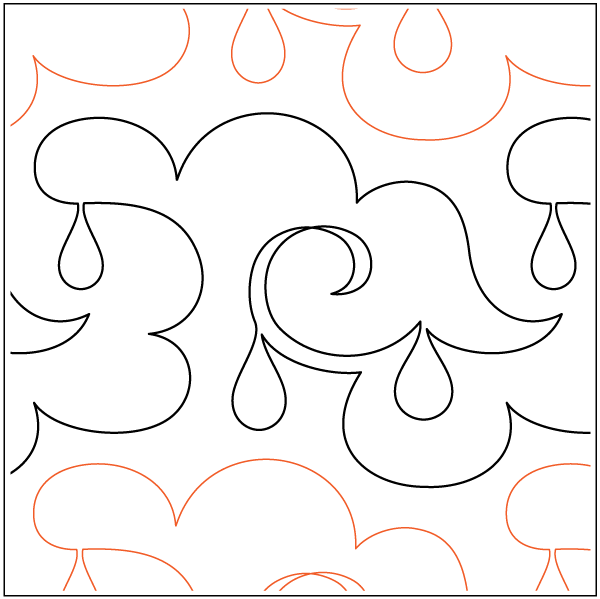 Urban Elementz- Pantograph - Lorain's Rainy Day 8 wide pattern)