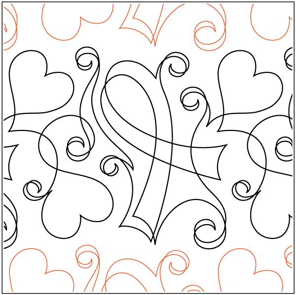 Urban Elementz- Pantograph - Love & Support (9.5 wide pattern)