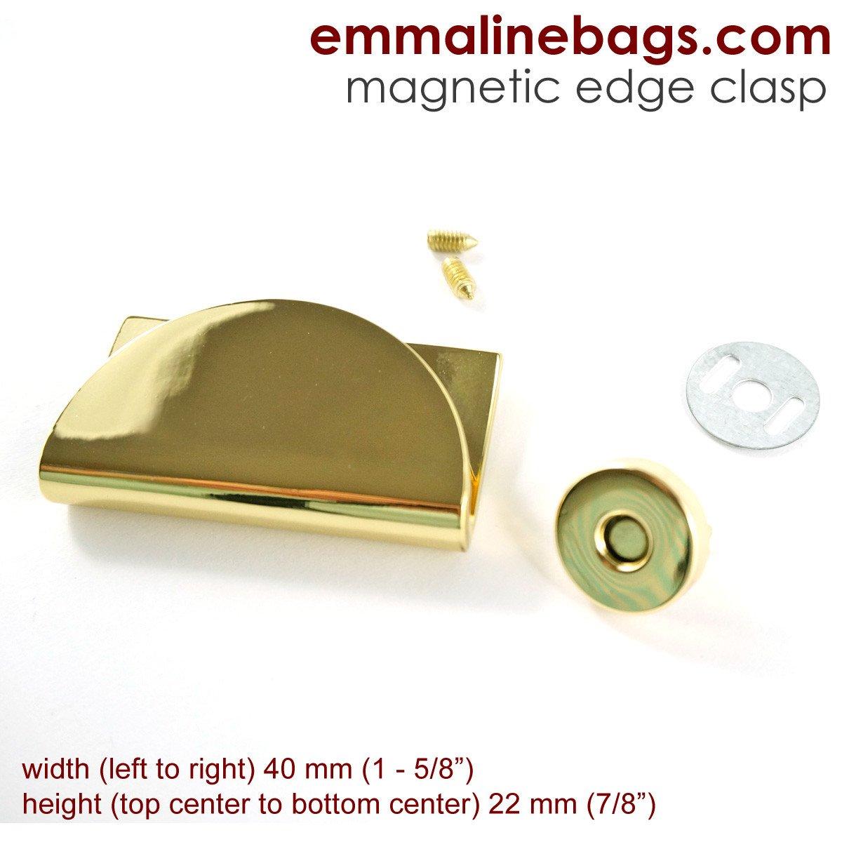 Emmaline - Half Moon Magnetic Snap -  Gold