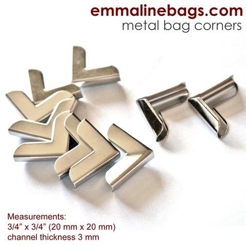Emmaline - Metal Corners: 3/4 x 3/4 Silver Finish (10 Pack)