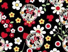 Springs Creative - Disney - Minnie Mouse - Minnie Floral Toss - Black