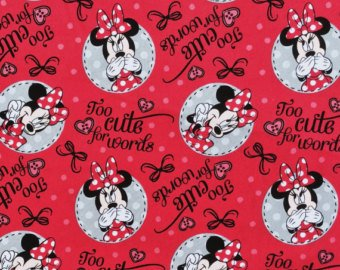 Springs Creative - Disney - Minnie Mouse - Too Cute For Words - Red