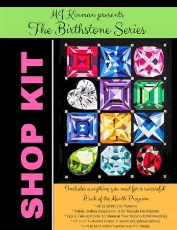 MJ Kinman - Shop Kit - Birthstone Series - 11 x 17 Finished