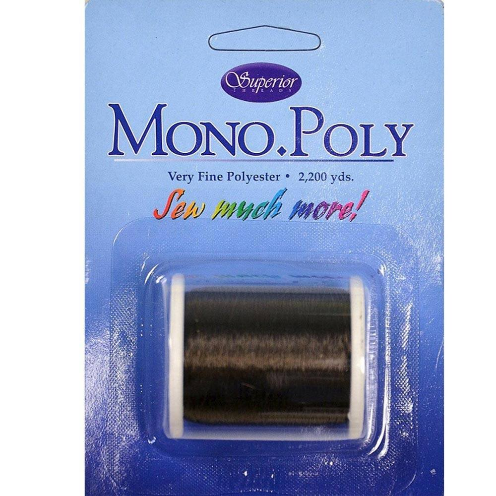 Superior Threads - MonoPoly Invisible Polyester Thread - Smoke - 2200 yds