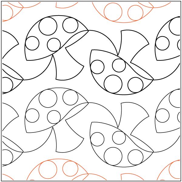 Urban Elementz- Pantograph - Mushrooms (7 wide pattern)