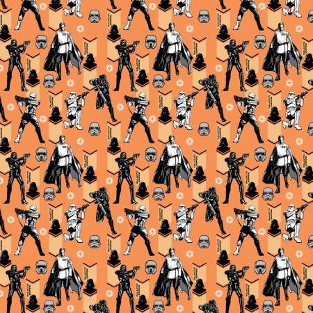 Camelot Fabrics - Star Wars - Star Wars Imperial Army - Orange