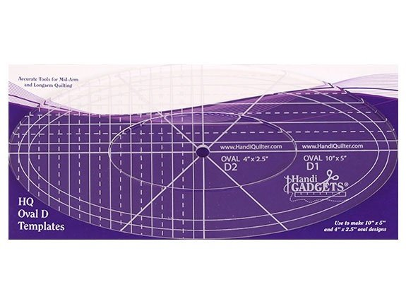HQ Ruler Oval D 10 & 4 Templates