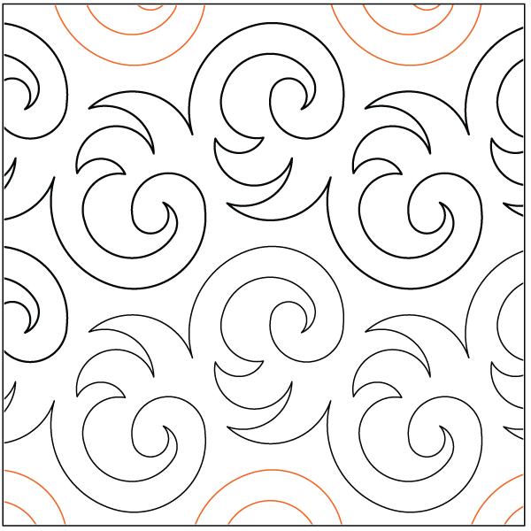 Urban Elementz- Pantograph - Plush (7.5 wide pattern)