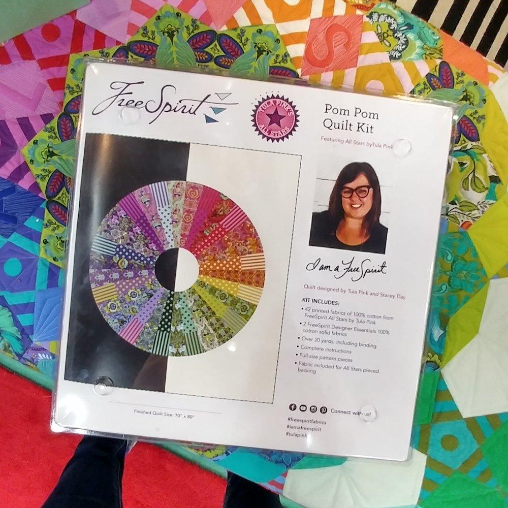 Free Spirit - Tula Pink - All Stars - Pom Pom Quilt Kit