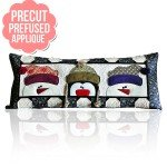 Kimberbell Designs - Whimsy Winter Bench Pillow Covers - Precuts!