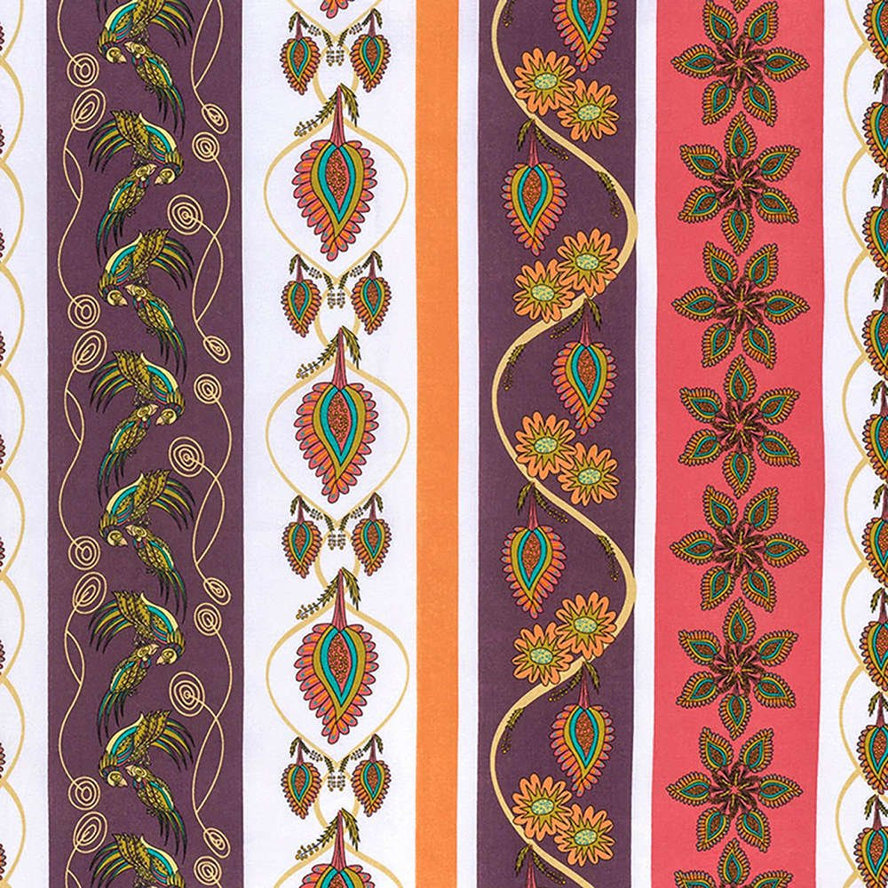 Free Spirit - Kathy Doughty - Flock Together - Decorative Stripe - Contemporary