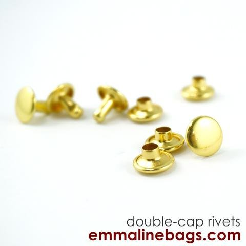 Emmaline - Double Capped Rivets - Small Rivet in Gold (50 Pack)