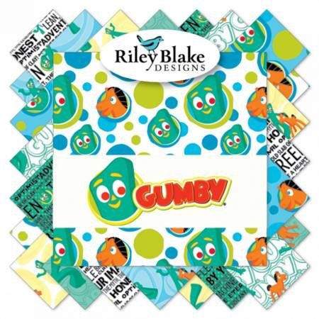 Riley Blake Design - Gumby - Design Roll - 40 Peices