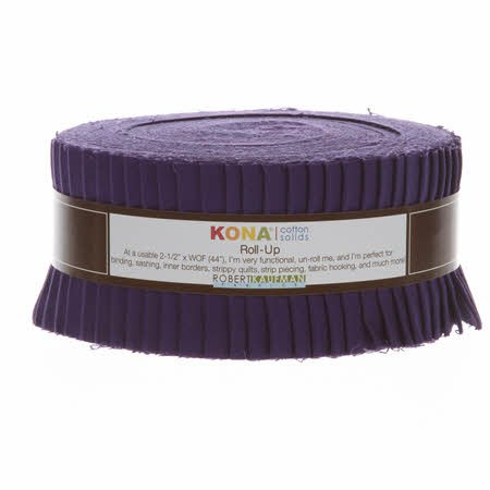 Robert Kaufman - Kona - Solids Jelly Roll - Purple - 40ct