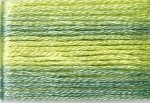 8014 Cosmo Seasons Variegated Embroidery Floss Greens