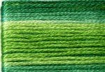 8022 Cosmo Seasons Variegated Embroidery Floss Greens