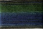 8025 Cosmo Seasons Variegated Embroidery Floss Dark Greens/Blues