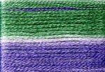 8026 Cosmo Seasons Variegated Embroidery Floss Greens/Lavender