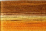 8029 Cosmo Seasons Variegated Embroidery Floss Orange/Yellow/Brown
