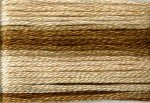8036 Cosmo Seasons Variegated Embroidery Floss Browns