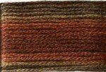 8041 Cosmo Seasons Variegated Embroidery Floss Browns/Rusts