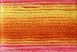 8046 Cosmo Seasons Variegated Embroidery Floss Orange/Yellow/Pink