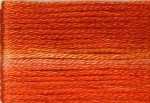 8047 Cosmo Seasons Variegated Embroidery Floss Dark Oranges
