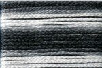 8072 Cosmo Seasons Variegated Embroidery Floss Black/Grey/White