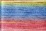 8077 Cosmo Seasons Variegated Embroidery Floss Yellow/Blue/Pink