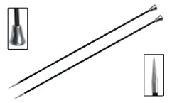 Knitter's Pride - Karbonz Single Pointed Carbon Fibre Knitting Needles - 0(2.00mm-35cm)