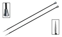 Knitter's Pride - Karbonz Single Pointed Carbon Fibre Knitting Needles - 3(3.25mm-25cm)