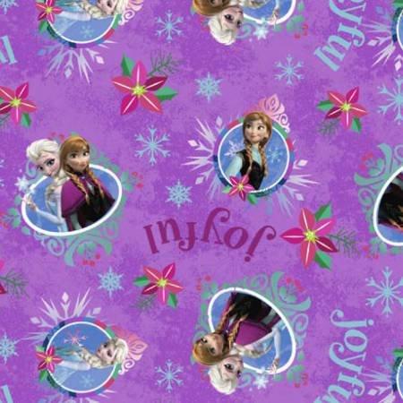 Springs Creative - Frozen Sisters Merry Joyful - Purple