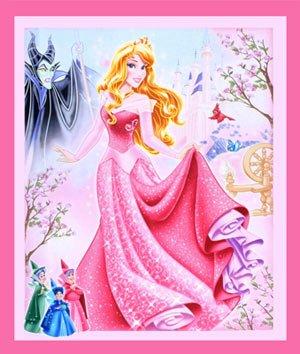 Springs Creative - Disney - Sleeping Beauty Panel - Pink