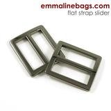 Emmaline - Strap Slider Flat: 1 (25mm) Gunmetal 2ct