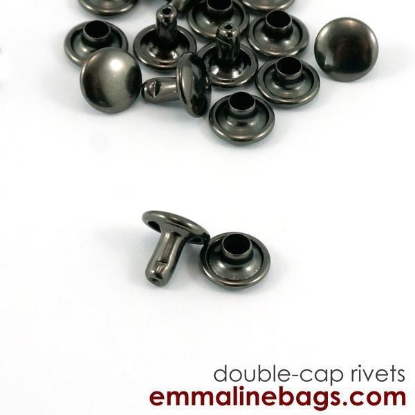 Emmaline - Double Cap Rivets - Small Gunmetal (50 pack)