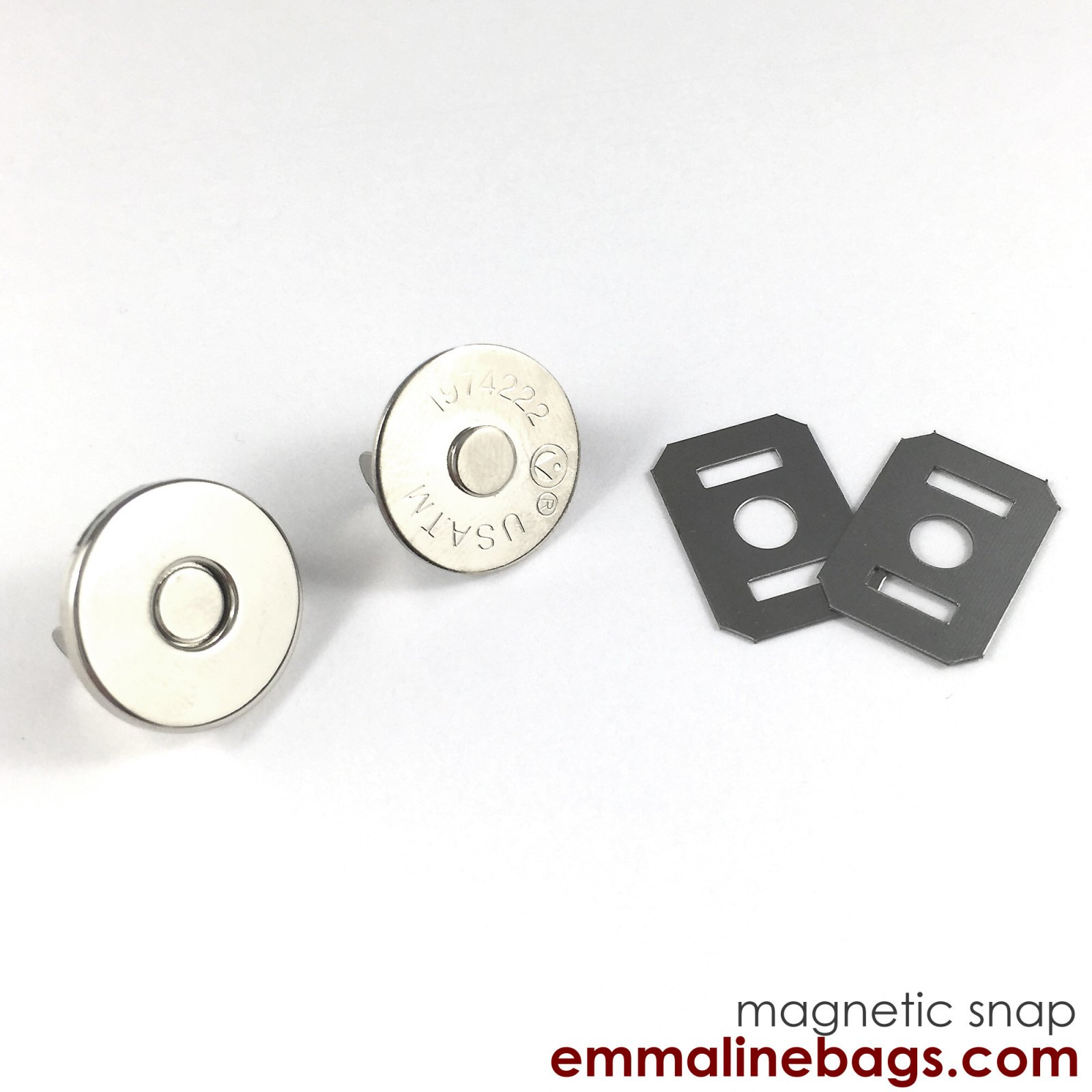 Emmaline - Magnetic Snap Closures: 3/4 (18 mm) in Nickel Finish (2 Pack)