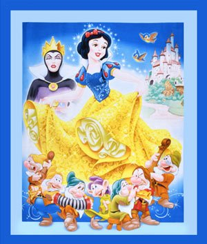 Springs Creative - Disney - Snow White Panel - Blue