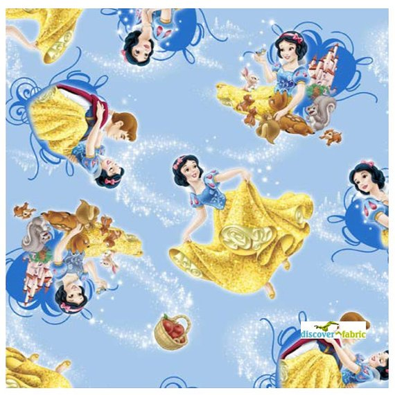Springs Creative - Disney - Snow White with Animal Friends - Blue
