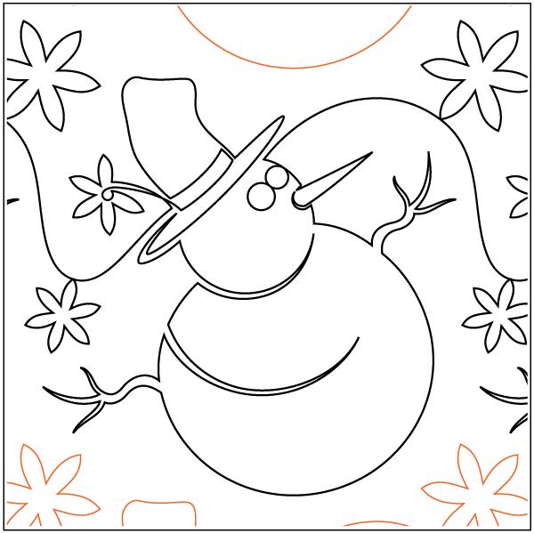 Urban Elementz- Pantograph - Snowmen & Snowflakes (9.75 wide pattern)