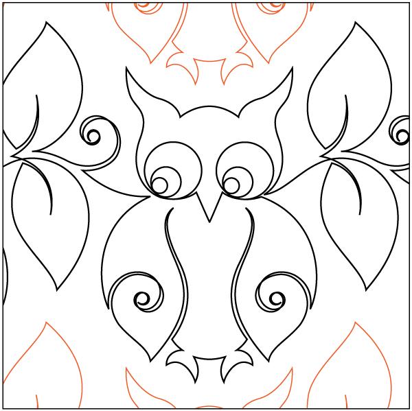 Urban Elementz- Pantograph - Snowy Owl (9 wide pattern)